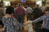 """Members of St. Barnabas United Methodist Church came together for a long-awaited homecoming. """"St. Barnabas, do you know how much you're loved?"""" senior pastor Will Cotton said."""