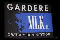 Eight Dallas ISD students competed in the 22nd annual Gardere MLK Jr. Oratory Competition at the Majestic Theatre in Dallas on Friday.