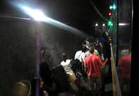 Seen on video, passengers hiked the dark tunnel between Cityplace and Mockingbird stations after their train stalled.