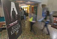 """National and foreign journalists visited the Texas Theatre as part of a JFK tour last week that culminated with a screening of National Geographic Channel's """"Killing Kennedy."""""""