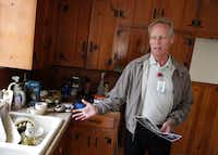 Irving city archivist Kevin Kendro points out what still needs renovating in the Irving house that Lee Harvey Oswald slept in the night before the assassination of John F. Kennedy.