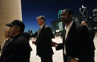 Mayor Mike Rawlings spoke at a candlelight vigil at City Hall in January.Mona Reeder - Staff Photographer