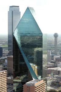 10. Fountain Place (1986): The shape-shifting prism — it's different from every angle — was designed by Harry Weese, the partner of I.M. Pei, and is without question the most handsome of Dallas' skyscrapers. Its pointed top makes it an easy icon for the city. The fountained plaza at its base, designed by the modernist legend Dan Kiley, is among downtown's most rewarding public spaces.