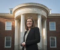 Molly McClung, a grad student at SMU's Cox School of Business, said she realized a job in investment banking on Wall Street wasn't for her. She knows she'll work long hours in private banking but said it should give her more balance.Rex C. Curry  -  Special Contributor