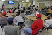 <TypographyTag1>Many sought shelter</TypographyTag1><bold1> </bold1>from the heat Thursday at The Stewpot, which provides services for the homeless. It was established by First Presbyterian Church in 1975.Ron Baselice - Staff Photographer