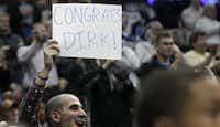 Dallas Mavericks' Dirk Nowitzki passed Lakers legend Jerry West on the NBA scoring list.