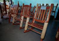 Sherry's Cedar Works had a large display of their cedar rockers at the Canton, First Monday Trade Days, in Texas.DARNELL RENEE