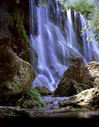After your swim at Colorado Bend State Park, hike to gorgeous Gorman Falls.Texas Parks and Wildlife Dept.
