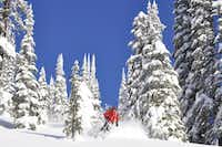 Skiers and boarders from around the world flock to British Columbias Cariboo Mountains, which offer endless powder runs and epic tree skiing.