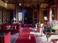 """The library is a favorite with visiting """"Downton Abbey"""" fans."""