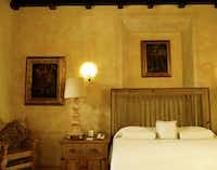 Suites are filled with a golden and rose glow at Hacienda Xcanatún.