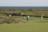 Newport Dunes Golf Club in Port Aransas, an Arnold Palmer-designed course that's open to the public, lies along the Gulf of Mexico.