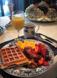 Breakfast is served each morning at the Three Oaks in Marshall.