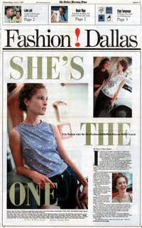 Erin Wasson featured in Fashion!Dallas after she won the Fashion!Dallas Model Search in 1997.