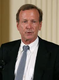 Neil Bush, a Houston businessman, speaks during an event at the White House. He and his wife are among 13 additions to Ted Cruz's national finance team. (2013 File Photo/Getty Images)