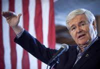 Newt Gingrich is hoping for a jolt that revives him as the chief rival to Romney.