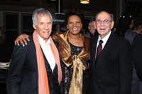 """FILE - This Oct. 17, 2011 file photo shows legendary songwriters Bert Bacharach, left, and Hal David pose with singer Dionne Warwick at the """"Love, Sweet Love"""" musical tribute to Hal David on his 90th birthday in Los Angeles, Calif. David, who along with partner Burt Bacharach penned dozens of top 40 hits for a variety of recording artists in the 1960s and beyond, died Saturday Sept. 1, 2012 in Los Angeles."""