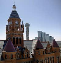 The Old Red Museum of Dallas County History & Culture, a Richardsonian Romanesque treasure, features turrets and what most people would call gargoyles but are actually wyverns (because gargoyles have water spouts, and wyverns don't).File 2010  -  Staff Photo