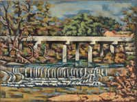 Loren Mozley Onion Creek Bridges, 1960 Oil on canvas