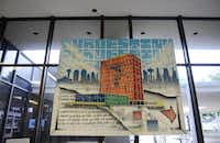 Artist Daniel I. Yanez's painting of the Bank Tower at Oak Cliff hangs in the lobby.ROSE BACA - neighborsgo staff photographer