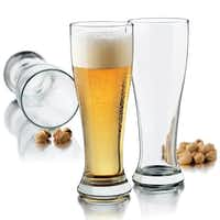 No man cave is complete without a set of classic pilsner glasses. Featuring a narrow base to maintain carbonation and a tight rim to capture the head, the 16-ounce glasses are great for pale lagers. Set of eight, $25, at jcpenney.com.J.C. Penney  - J.C. Penney