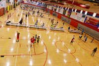 Kids practice at Plano Sports Authority, a nonprofit that provides year-round recreational sports leagues to boys and girls in Plano ISD and surrounding areas.