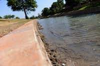 A wall was built to help erosion control at Andy Brown Park East. The park is part of a master planned redevelopment that requires voters to reauthorize a half-cent sales tax in November.