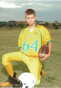 Tyler Sampson, a seventh-grader at Griffin Middle School, started playing flag football as a 4-year-old and now plays for his school team.Photos submitted by DOUG SAMPSON 219,4,200