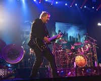Currently #1 in the public voting for nominees to the Rock and Roll Hall of Fame in front of Deep Purple and Heart, the band RUSH performed to a full house at the American Airlines Center, Nov. 28, 2012. The band played more then three hours during which most of the fans never sat down nor left their seats.