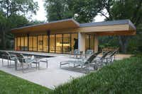 A Preston Hollow pool house designed by Russell Buchanan