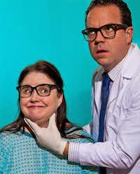 "Tina Parker (Meena) and Max Hartman (Phil) star in ""RX,"" March 29-April 27 at Kitchen Dog Theater in Dallas."