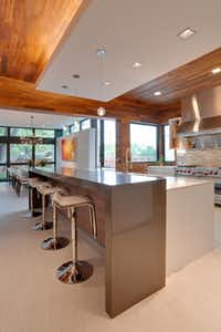 The expansive kitchen