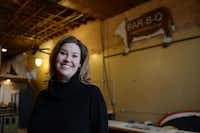 Jill Bergus, co-owner of Lockhart Smokehouse, stands inside the restaurant's new location in downtown Plano on Jan. 23.Rose Baca