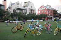 BEACH CRUISERS dot the lawns of Rosemary Beach, where kids and parents  head for the  beaches just steps away.Janet L. Thomas  -  Special Contributor