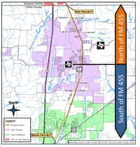 The 9-mile stretch for the proposed widening continues from State Highway 121 in Melissa at the southern end through Anna, ending in Van Alstyne at the Grayson-Collin County line at the north.Map submitted by TEXAS DEPARTMENT OF TRANSPORTATION