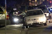 "In this image provided by KEYT-TV, a car window is shot out after a mass shooting near the campus of the University of Santa Barbara in Isla Vista, Calif., Friday, May 23, 2014.  A drive-by shooter went on a ""mass murder"" rampage near the Santa Barbara university campus that left seven people dead, including the attacker, and seven others wounded, authorities said Saturday. (AP Photo/KEYT, John Palminteri)John Palminteri - AP"
