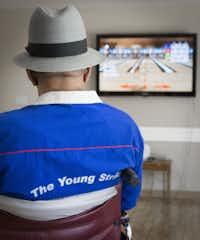 William Jones keeps an eye on the Young Strikers' progress.Ron Heflin - Special Contributor