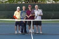 From left: USTA Senior Team members Joe Jameson, Phil Hontz, Joe Cotter and Lou Albert at the Huffhines Tennis Center.Brandon Wade - Special Contributor
