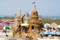 The Sand Castle at Schlitterbahn South Padre Island Beach Resort is a funhouse loaded with all kinds of water elements, giant dumping sand pails and slides.