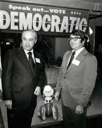 Robert Strauss (left) and Jim Mattox.Gary Barnet  -  Staff Photographer