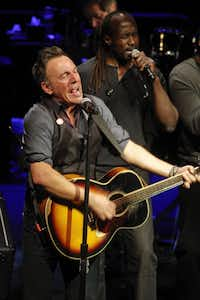 Bruce Springsteen performs with the E Street Band during the SXSW Music Festival in Austin, Texas on Thursday, March 15, 2012.