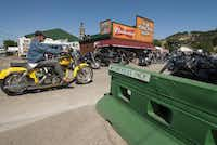 During last year's Sturgis Motorcycle Rally, more than 400,000 visitors crowded into the small South Dakota town for the weeklong event.Britt Basel  -  The Washington Post