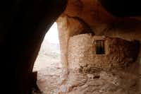 Anasazi ruins in the Monument Valley are reached via a short hike with the aid of a Navajo guide.