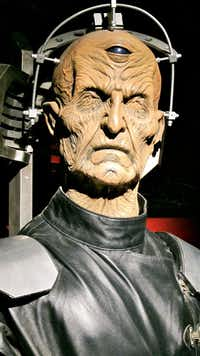 Davros, the evil creator of the Daleks at the Doctor Who Experience in Cardiff, Wales.
