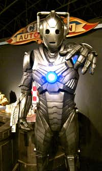 Cybermen are among the exhibits at the Doctor Who Experience in Cardiff, Wales.