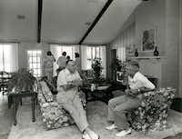 June 30, 1975 - Dallas businessman Troy Victor Post (left) talks with Trav Ward.