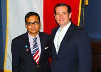 Pulak met with U.S. Sen. Ted Cruz during a trip where he received a $25,000 scholarship from the Davidson Institute for Talent Development for his work on the arsenic water filter and test.Photo submitted by THABIT PULAK