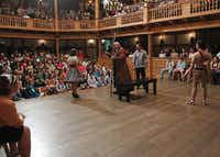 At the American Shakespeare Center in Staunton, Va., audiences are not plunged into darkness as in most of today's productions, but are as visible to the actors as the actors are to them.File 2011
