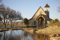 In addition to two elegant homes, stone-tiered waterfalls and elevated aqueducts, Mesa Vista has a chapel.
