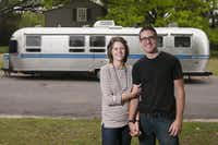 Laura Preston and John Ellis, known as the Democratic Travelers, are traveling through the country pulling a 34-foot Airstream trailer.  People can vote online where they should go.